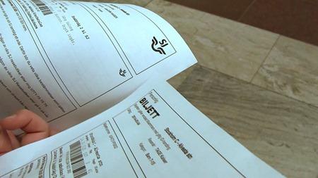 Dubbelsidig tryckning av biljetter inte alltid så smart