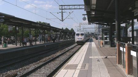 Mitt SJ Snabbtåg med den fina servicen anländer till Linköping