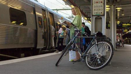 På SJs tåg går det inte att ta med cykel