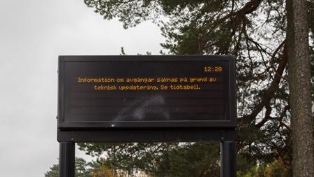Den elektroniska busstavalan har inte fungerat på flera månader