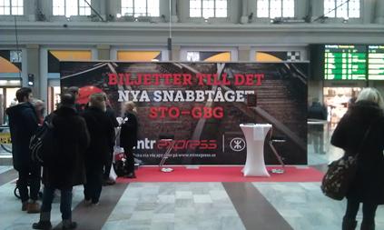 Billiga biljetter med MTR Express säljs på STockholm C