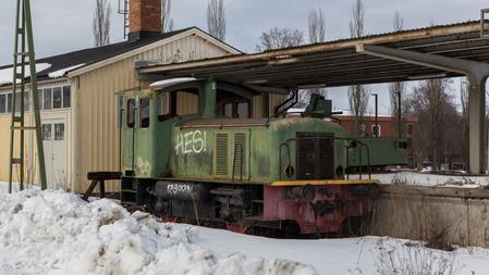 """""""Stationsloket"""" i Säter som symbol för stationens förfall"""