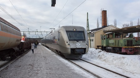 SJ 3000 ankommer för att ta mig från Säter station - En station på dekis