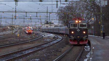IC-tåg i Norrköping på väg till Malmö