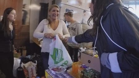 Utdelning av matpaket
