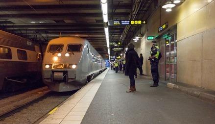 Tåg 547 ankommer från Malmö till Stockholm C