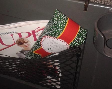 SJ bjuder tågresenärer på julgodis ( Foto: Tågresenär )