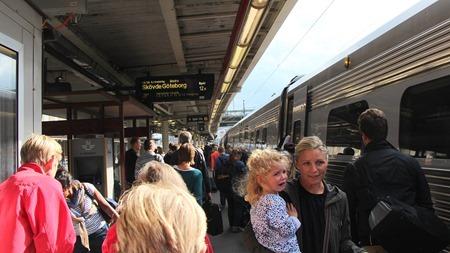 Resenärer på Stockholm C