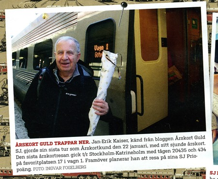 SJ Nytt uppmärksammar Årskort Guld SJs i alla fall tillfälliga reseuppehåll