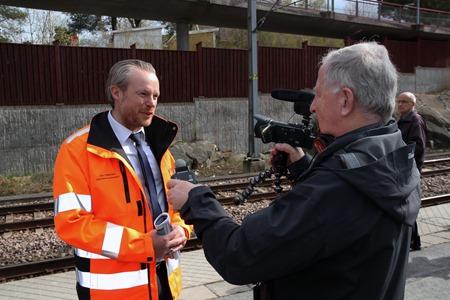 Intervju med Dan Hildebrand, VD MTR Pendeltågen AB ( Fotograf Ingvar Fogelberg )